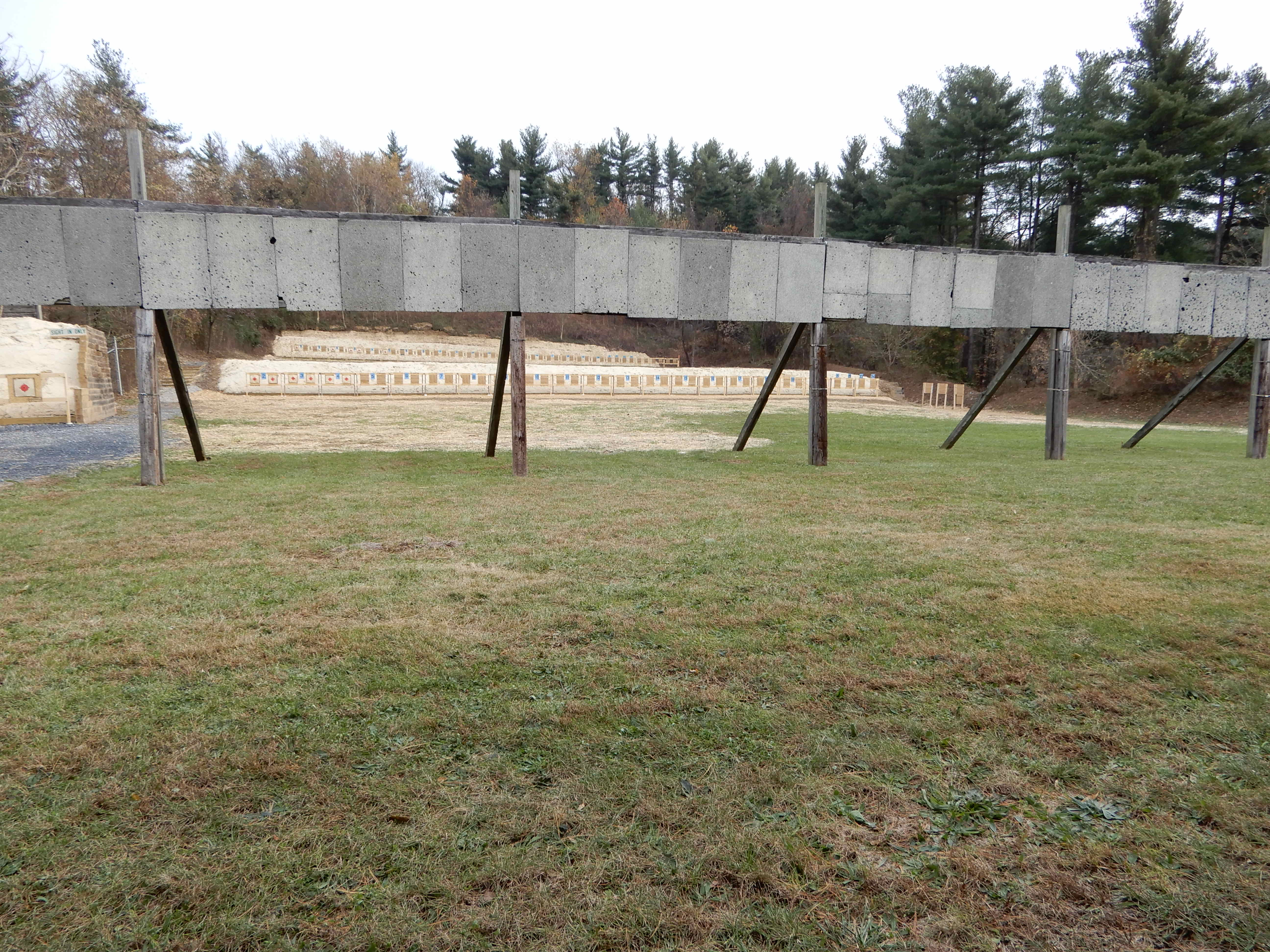50 and 100 Yard Rifle Line with Baffles